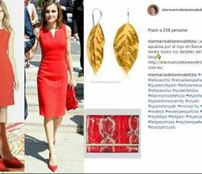 Letizia Ortiz regina in rosso: tubino e tacchi FOTO