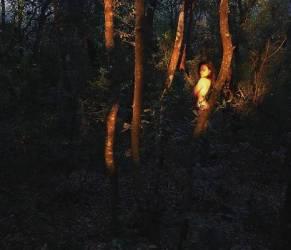 Romina Carrisi vedo non vedo: una ninfa tra la natura FOTO