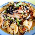Zuppa di Pesce con Riso Venere