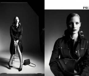 Jessica Chastain protagonista della campagna pubblicitaria Prada