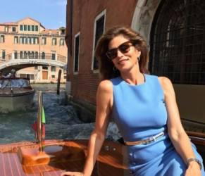 Cindy Crawford in Italia: il buongiorno da Venezia FOTO