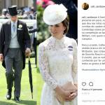 Kate Middleton look Ascot 2017: abito bianco in pizzo FOTO