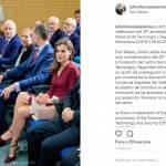Letizia Ortiz sceglie ancora il rosso: camicia e longuette FOTO
