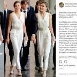 Letizia Ortiz più sensuale che mai: tutina bianca FOTO