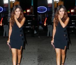 Selena Gomez sensuale: tubino corto e aderente FOTO
