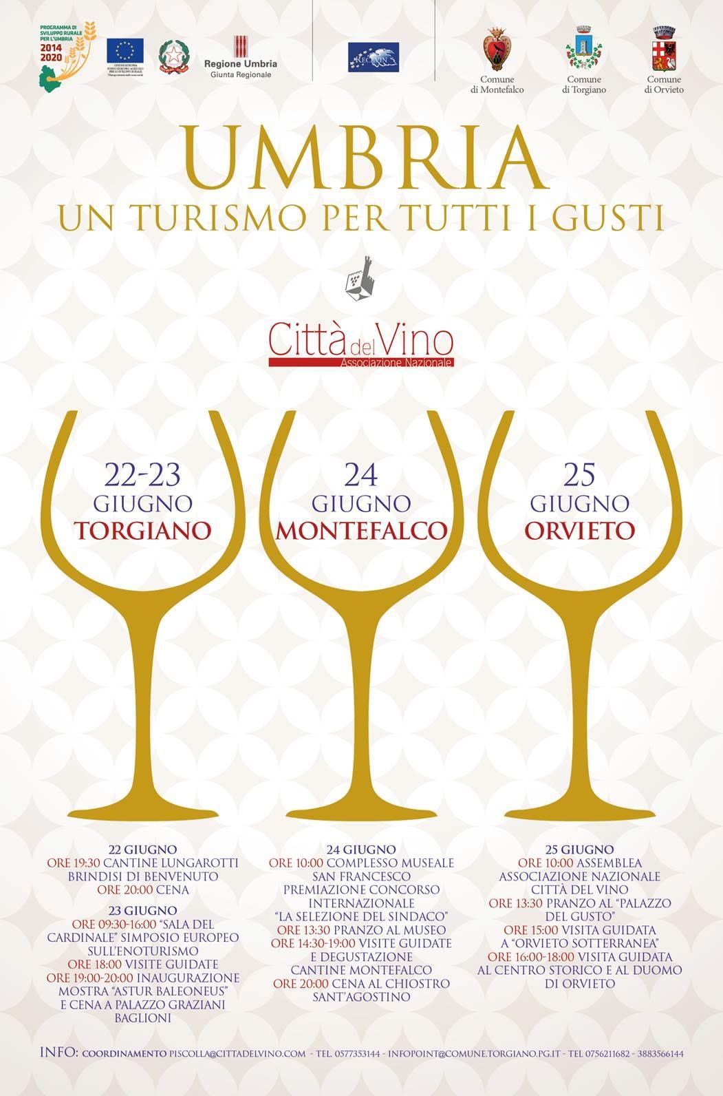 22-25 giugno. In Umbria la Convention delle Città del Vino