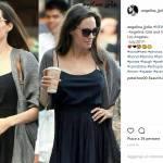 Angelina Jolie ingrassata? Abito nero e sandali flat FOTO