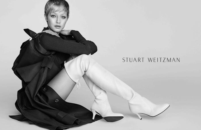 Gigi Hadid, taglio corto per la campagna Stuart Weitzman