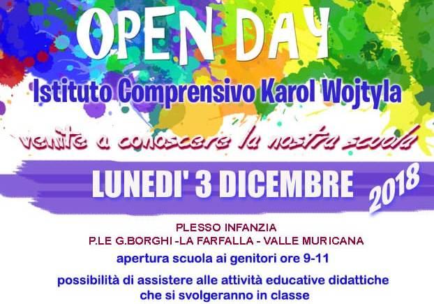 L'Istituto Comprensivo Karol Wojtyla di Roma il 3 dicembre apre le porte ai genitori