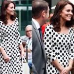 Kate Middleton: con l'abito a pois sfida la regina FOTO