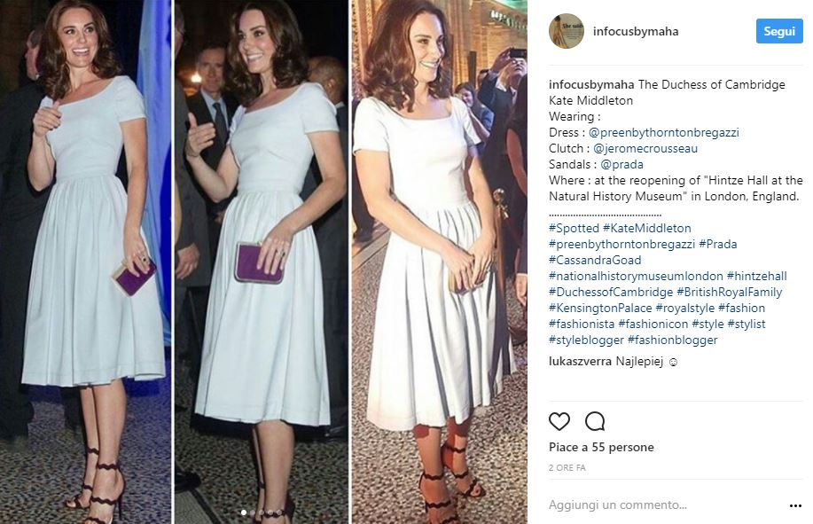 Kate Middleton Look: Total White E Sandalo Con Tacco Prada Foto