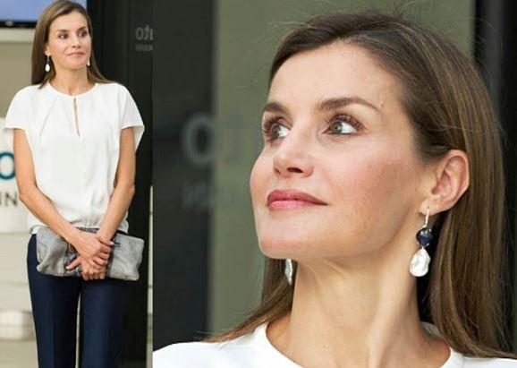 Letizia Ortiz look: outfit semplice e chic FOTO