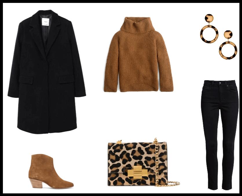 Outfit del giorno: glamour con un tocco animalier