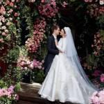 Miranda Kerr, abito da sposa Dior per le nozze con Evan Spiegel