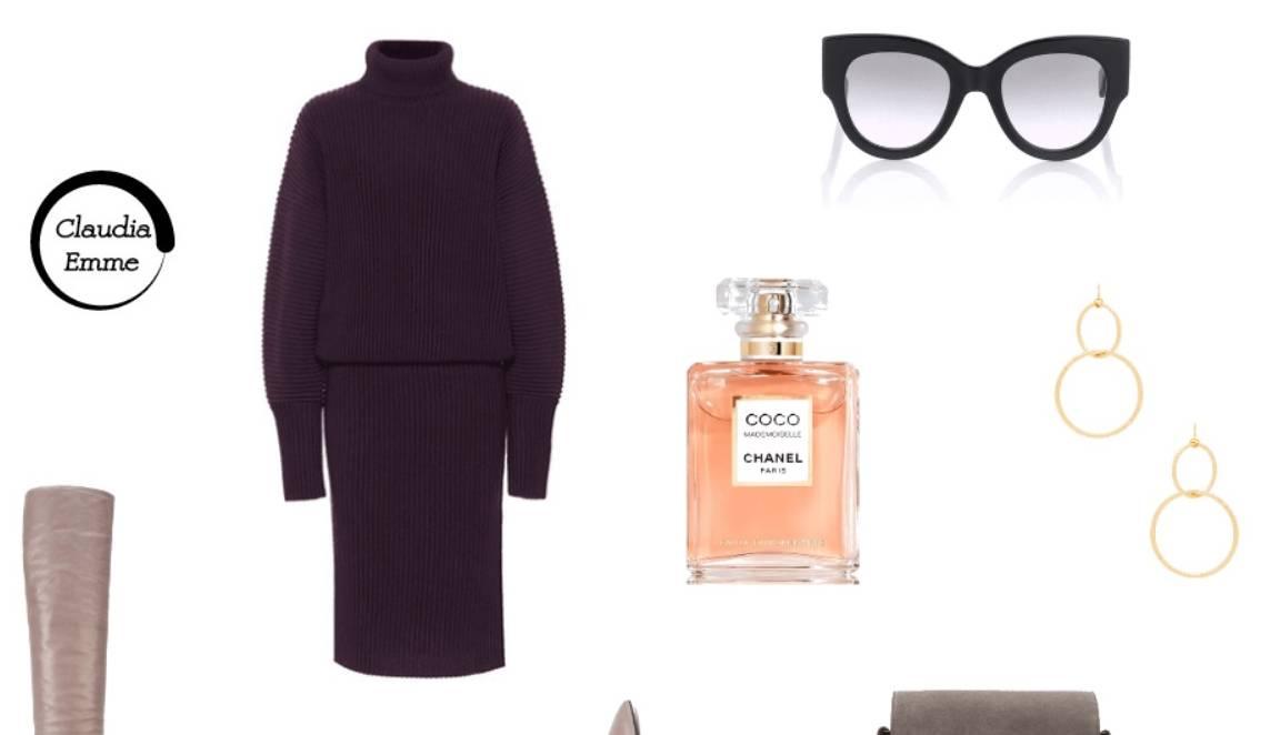 L'outfit del giorno: chic e glamour a lavoro anche con il freddo