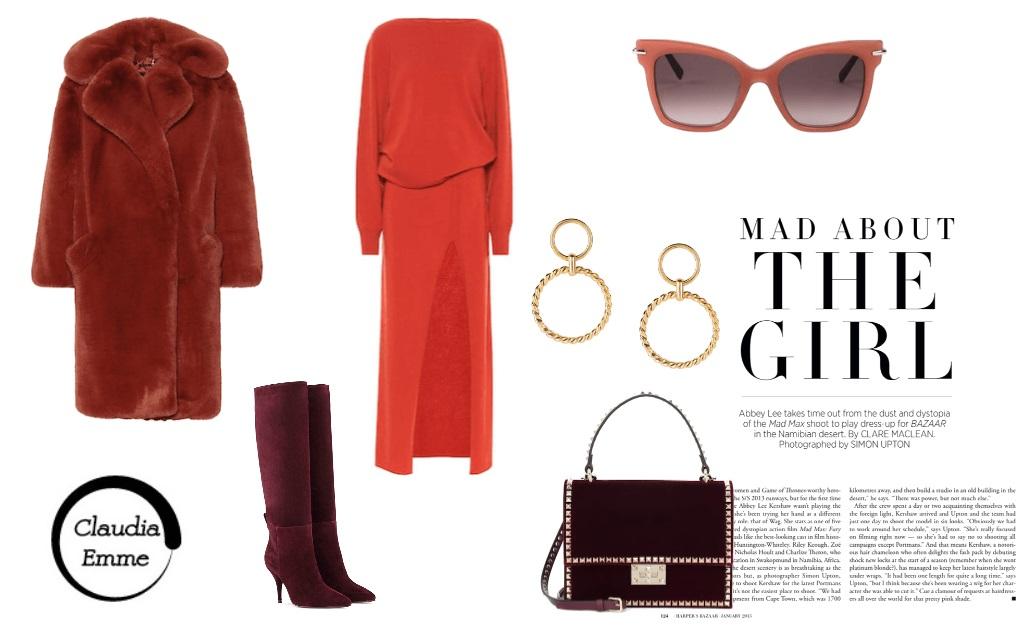 Sofisticata e glamour con l'abito ruggine: outfit del giorno