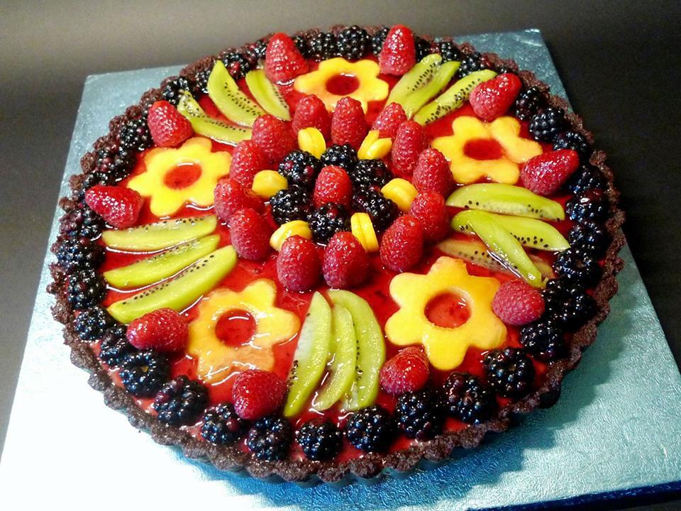 Crostata senza cottura con Panna Cotta e Frutta Fresca