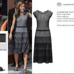 Letizia Ortiz sceglie il grigio: abito firmato Hugo Boss