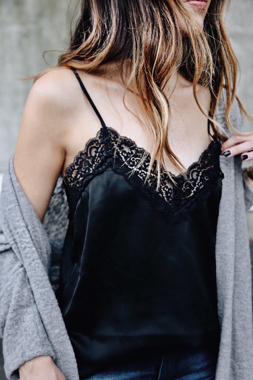 Come indossare maxi maglione e top in seta con stile FOTO