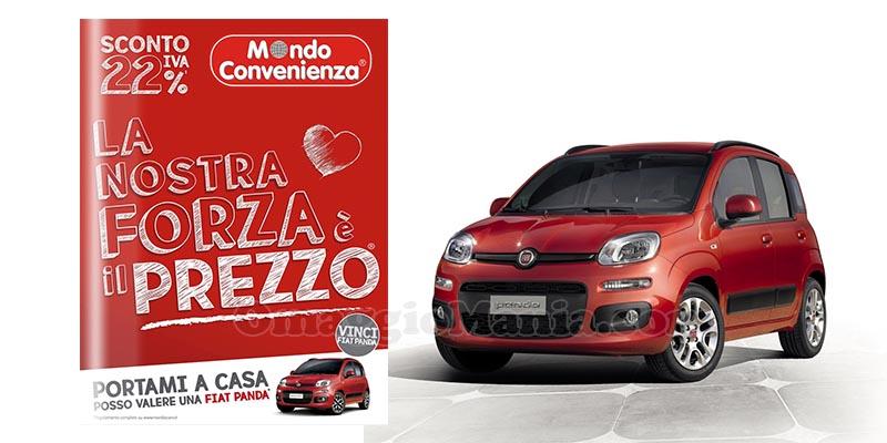 """Vinci una Fiat Panda grazie a Mondo Convenienza! Dal 1° ottobre infatti è iniziato il grande concorso """"Chi trova un catalogo trova un tesoro"""
