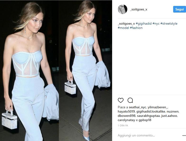 Gigi Hadid, pantaloni e top trasparente: sempre più magra FOTO