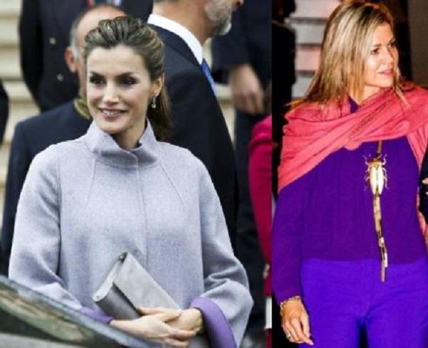 Letizia Ortiz, Maxima d'Olanda: quando l'outfit è viola