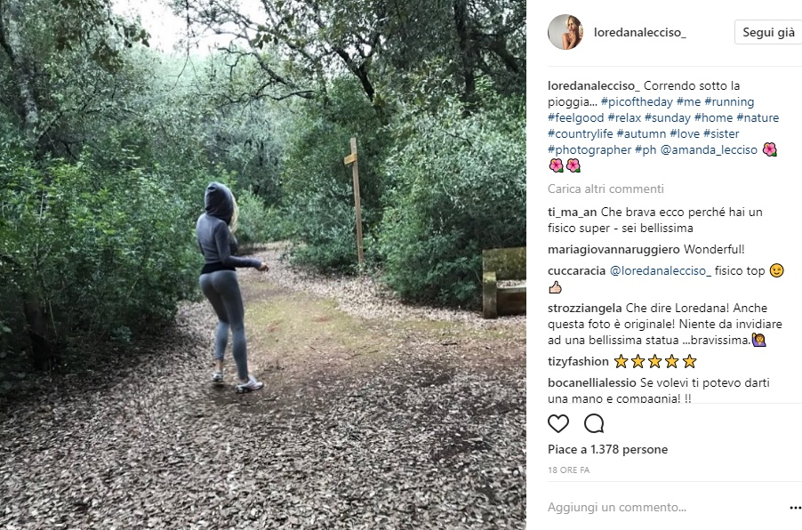Loredana Lecciso: legging aderenti mentre si allena FOTO