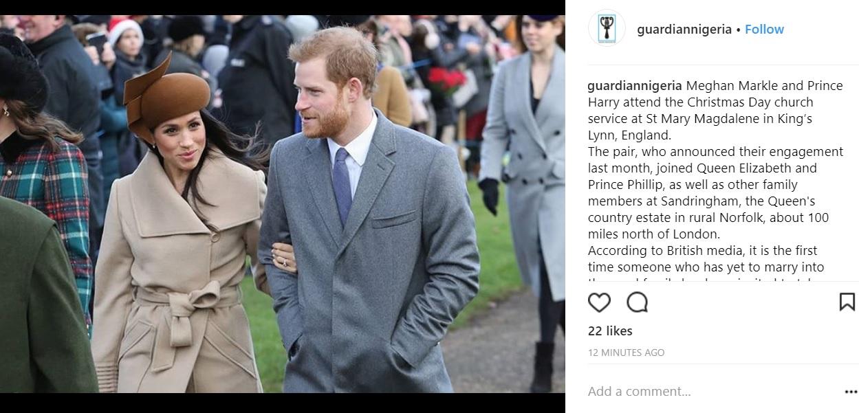 Meghn Markle: look di Natale è un omaggio a Kate Middleton FOTO