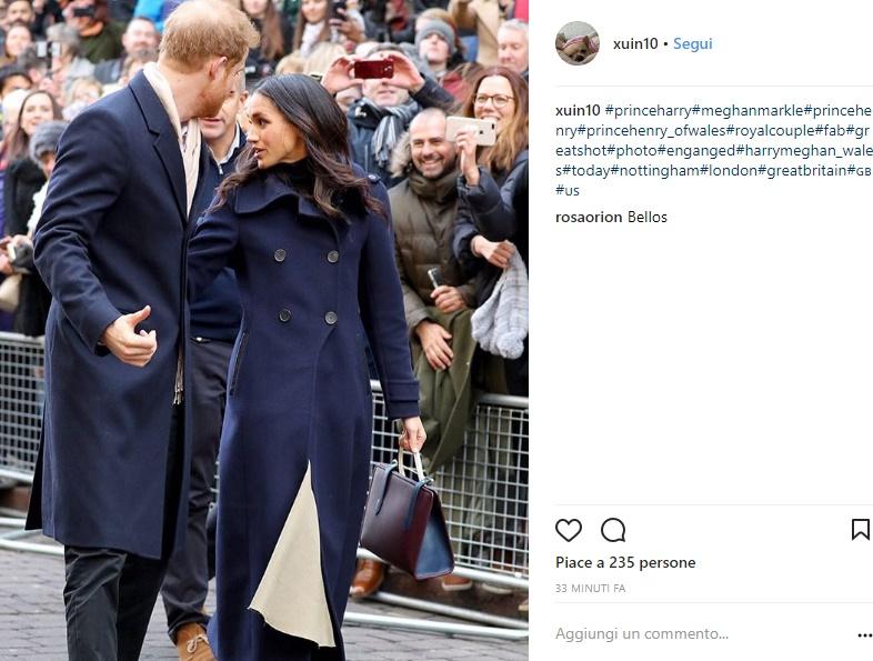 Meghan Markle: cappotto blu e borsa, dove acquistarli FOTO