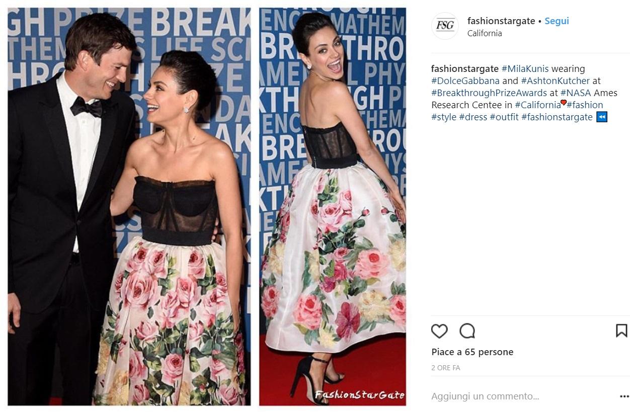 Mila Kunis: trasparenze sensuali in Dolce & Gabbana FOTO