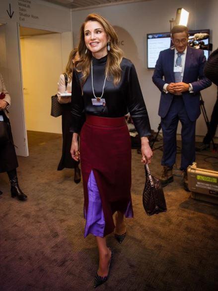 Rania di Giordania, Juliana Awada, Maxima d'Olanda a Davos 3