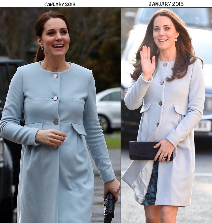 the best attitude 7a63b e02b8 Kate Middleton cappotto celeste e tacchi sotto la pioggia è ...
