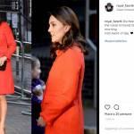 Kate Middleton lady in rosso: cappottino bon ton e tacchi FOTO
