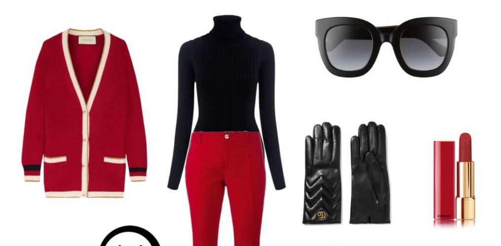 Look del giorno: glamour con un tocco di rosso! FOTO SET
