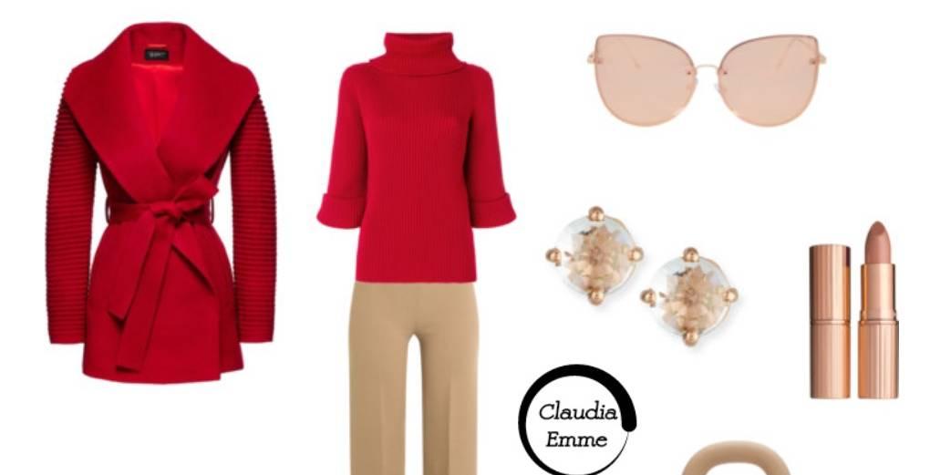 Look del giorno: neutral + red, chic e glamour FOTO SET