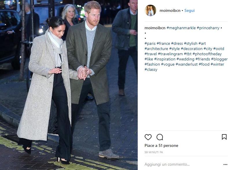 Meghan Markle, cappottino e pantaloni a palazzo: look sold out! FOTO