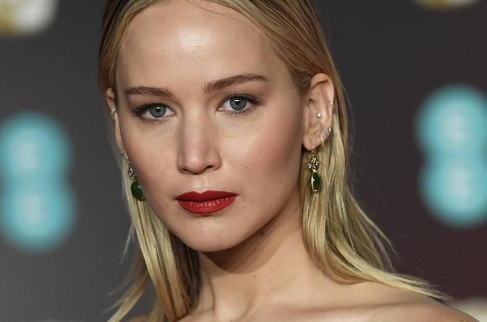 Bafta 2018, Jennifer Lawrence total black in Dior1
