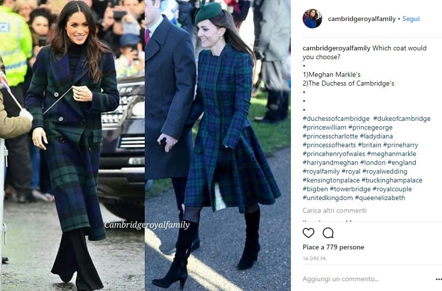 Meghan Markle cappotto: omaggio o sfida a Kate Middleton?