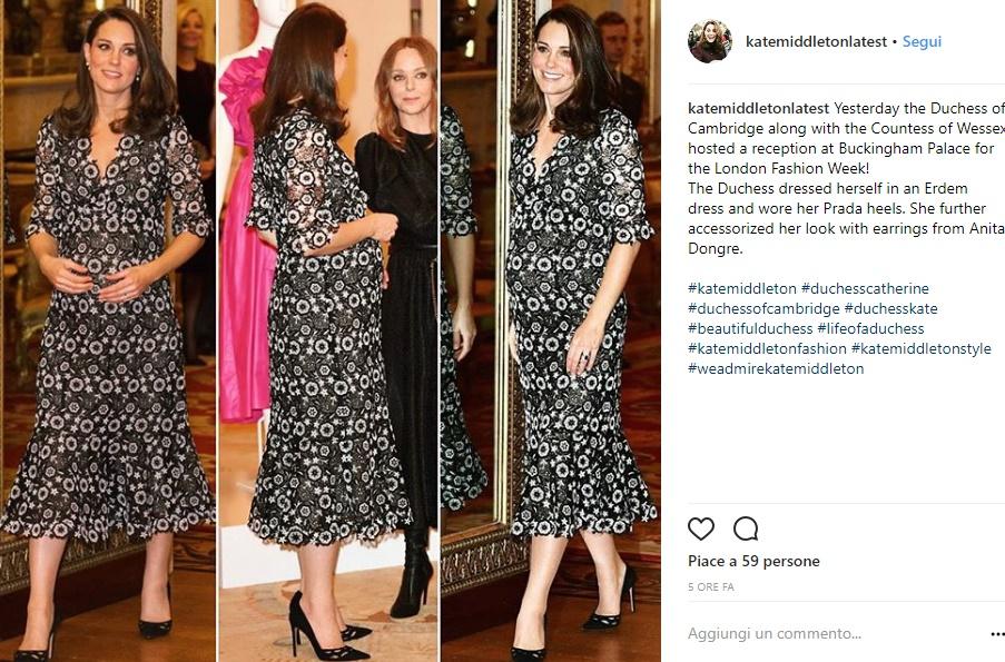Kate Middleton in abito Erdem con Anna Wintour FOTO
