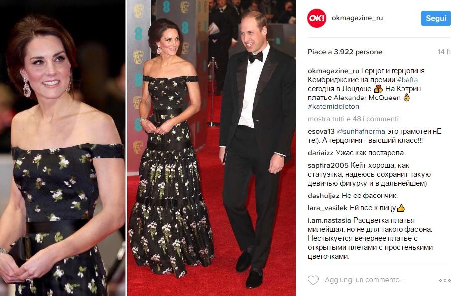 Kate Middleton ai Bafta: la decisione che fa infuriare le attrici