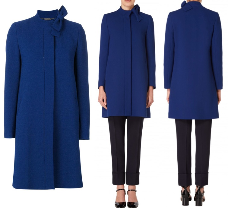 Kate Middleton look: cappotto blu Goat super chic FOTO
