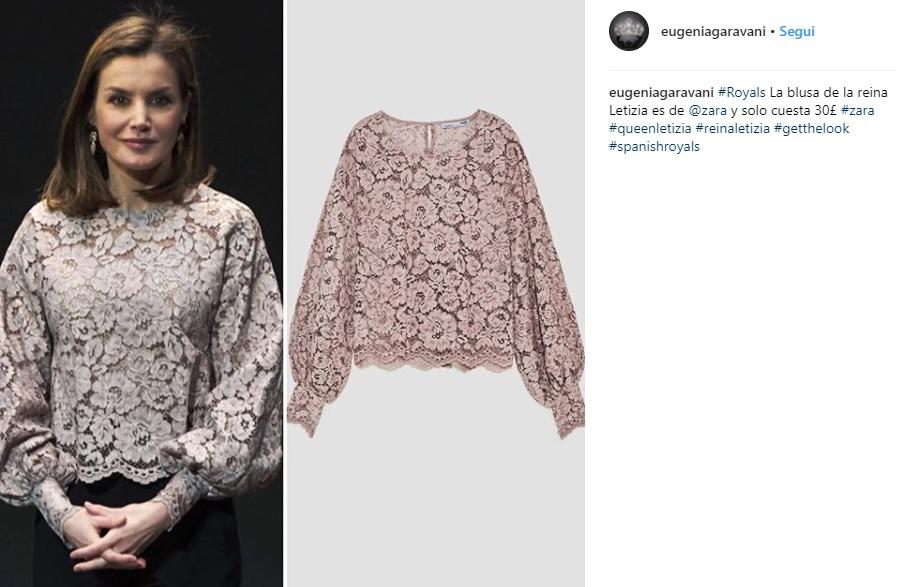 Letizia Ortiz look: la regina sceglie ancora Zara