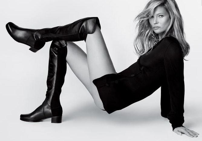 Stuart Weitzman, Kate Moss testimonial degli iconici stivali 5050