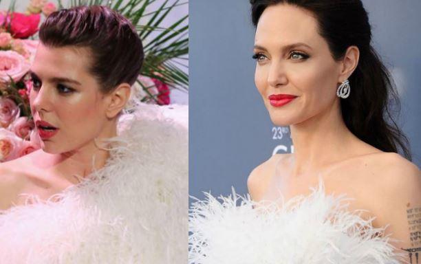 Charlotte Casiraghi, Angelina Jolie: la rivincita delle piume