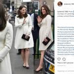 Kate Middleton deliziosa in bianco: cappottino riciclato FOTO