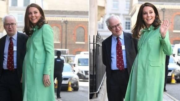 Kate Middleton look primaverile: completo verde brillante FOTO