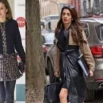 Letizia Ortiz, Amal Alamuddin: cappottini a confronto