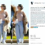Selena Gomez copia il look: jeans, top e maxi cardigan FOTO