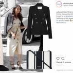 Meghan Markle nuovo look: abito bianco gessato e tacchi FOTO