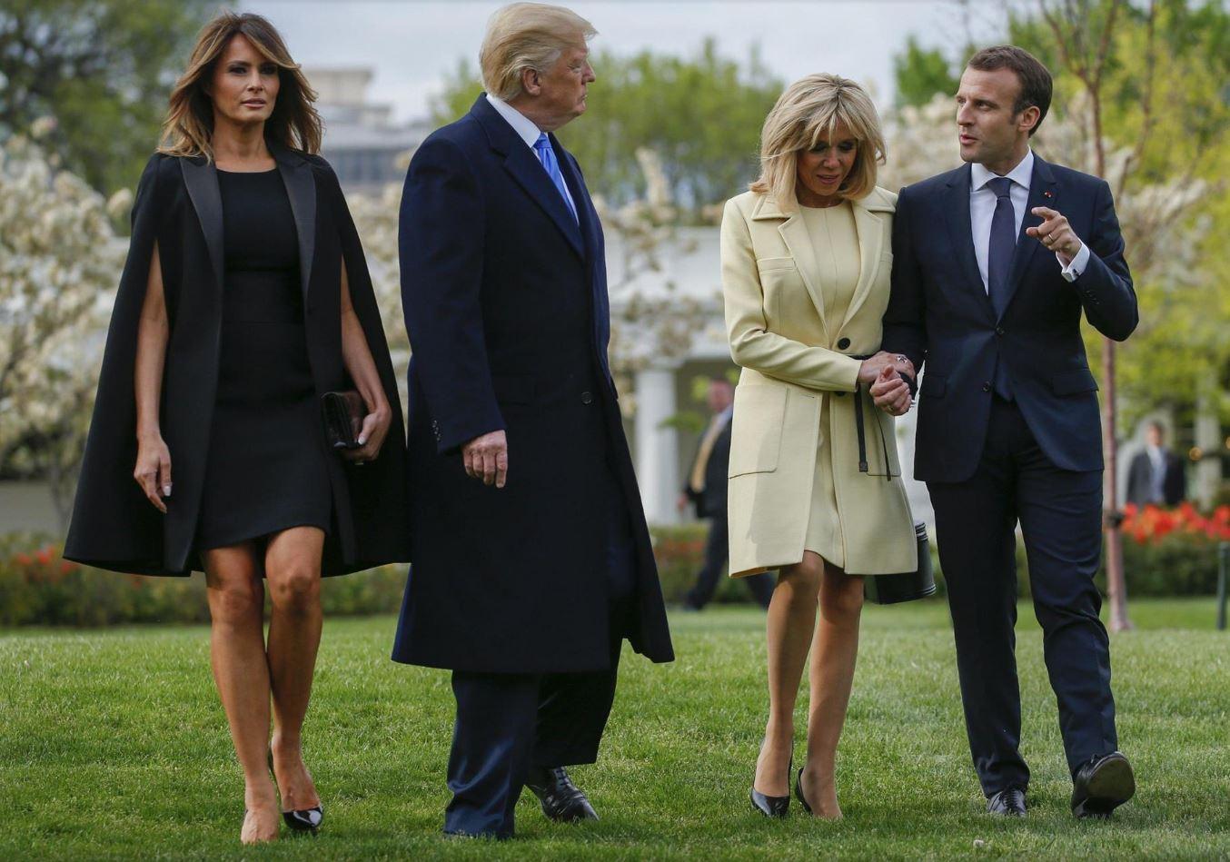 Melania Trump e Brigitte Macron: sfida di look a Mont Vernon